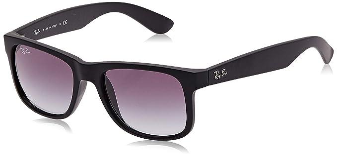 Ray-Ban Justin RB4165 - Gafas de sol Unisex, Negro (Black Rubber), 51 mm