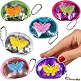 German Trendseller® - 6 x Kinder Geldbörsen Schmetterlinge NEU┃ Mitgebsel ┃ Portmonee ┃ Kindergeburtstag ┃ Für 6 Kinder