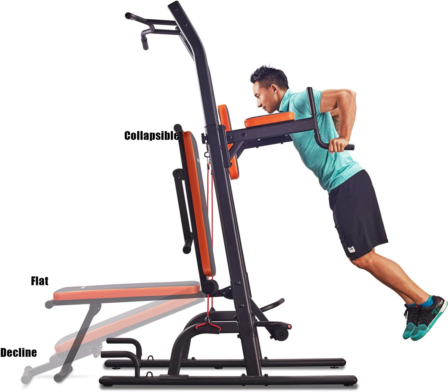 HARISON Multifunction Power Tower Pull Up Dip Station