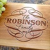 Personalized Cutting Board, Custom Keepsake, Engraved Serving Cheese Plate, Wedding, Anniversary, Engagement, Housewarming, Birthday, Corporate, Closing Gift #101