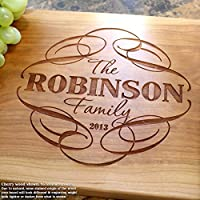 Personalized Cutting Board, Custom Keepsake, Engraved Serving Cheese Plate, Wedding, Anniversary, Engagement, Housewarming, Birthday, Corporate, Closing Gift #101
