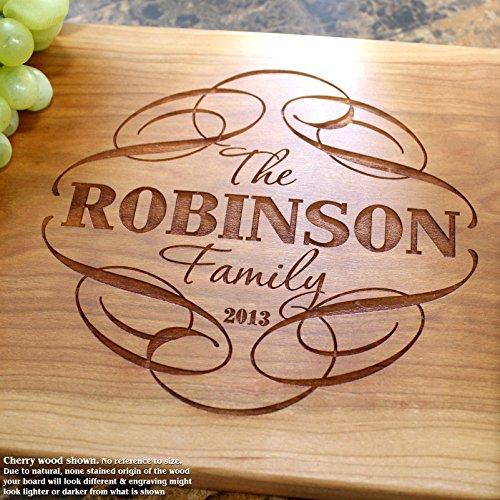 Board, Custom Keepsake, Engraved Serving Cheese Plate, Wedding, Anniversary, Engagement, Housewarming, Birthday, Corporate, Closing Gift #101 ()