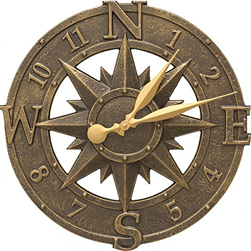 MD Group Outdoor Clock - Compass Rose, 16