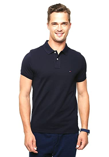 d0d3ced0 Tommy Hilfiger Men's Slim Fit Polo S/S Sf Shirt: Amazon.co.uk: Clothing