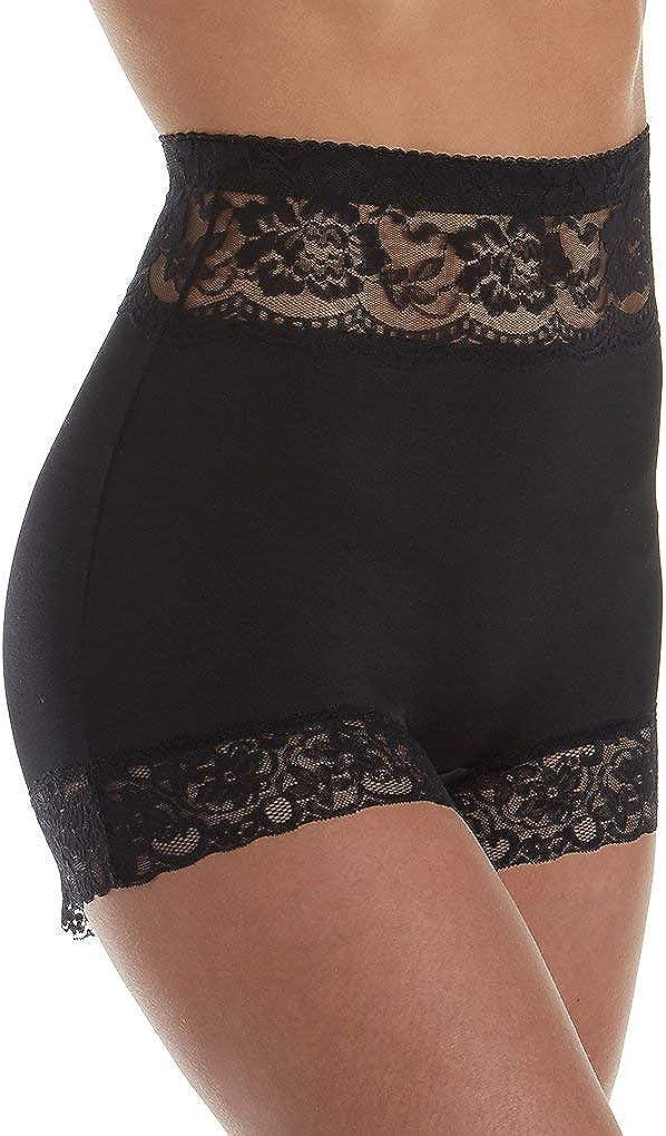 Rhonda Shear Womens Pin Up Lace Trim Panty 4004 2X Black