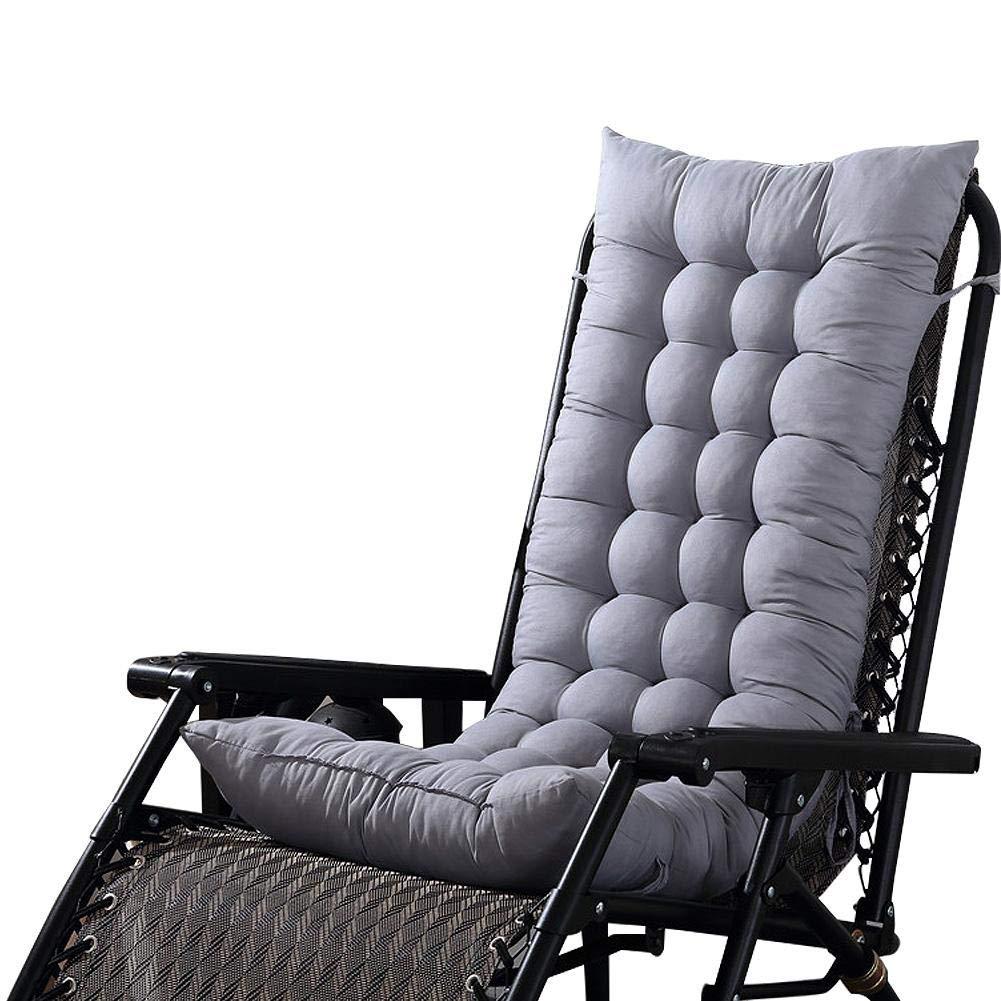 Cuscino Prendisole Cuscino per Esterno da Giardino Cuscino per sedie a Sdraio Cuscino Imbottito per Sedia reclinabile con Cinghie Elastiche 125 * 45 * 8 cm LeKing