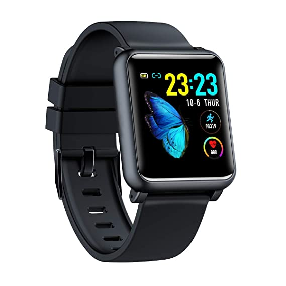 "Android Smart Watch 1.4"" Full Touch Colorful Screen with Heart Rate Monitor, IP67 Waterproof Smartwatch with ECG and PPG Data Collector, Step Counter ..."