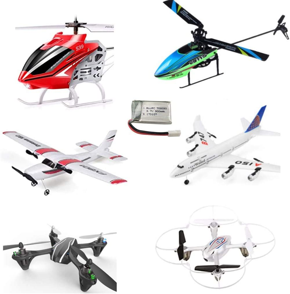 AKDSteel Exquisite Toys For Children,Adults 5PCS 3.7V 300mAh 25C Lithium Battery With 5 in 1 Charger FPV Drone Spare Parts for Sy-ma S39 X11 X11C WLToys V911S