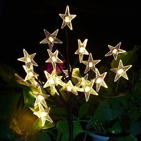 Amazon.com: Luces solares para exteriores – Árbol de las ...