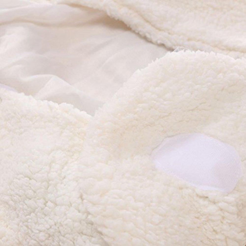 Newborn Baby Boys Girls Cute Cotton Plush Receiving Blanket Sleeping Wrap Swaddle by Pinleck (Image #9)