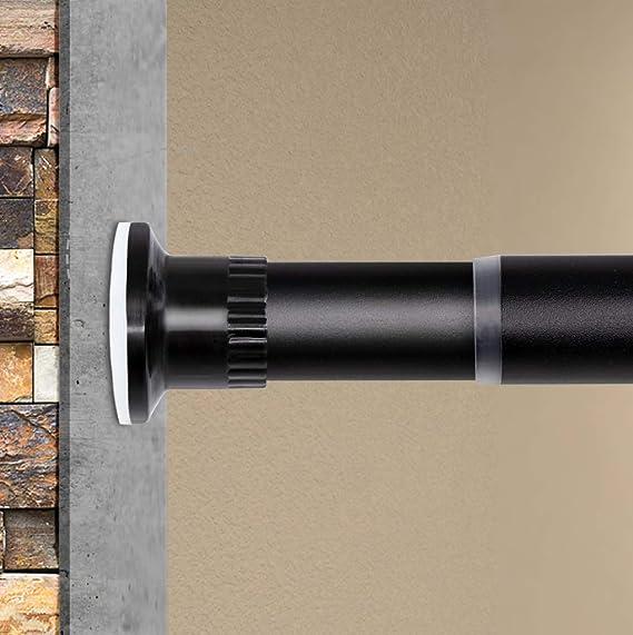Klemmfix Tension Rod Flex 60-90 cm Curtain Rod without drilling Silver Matt