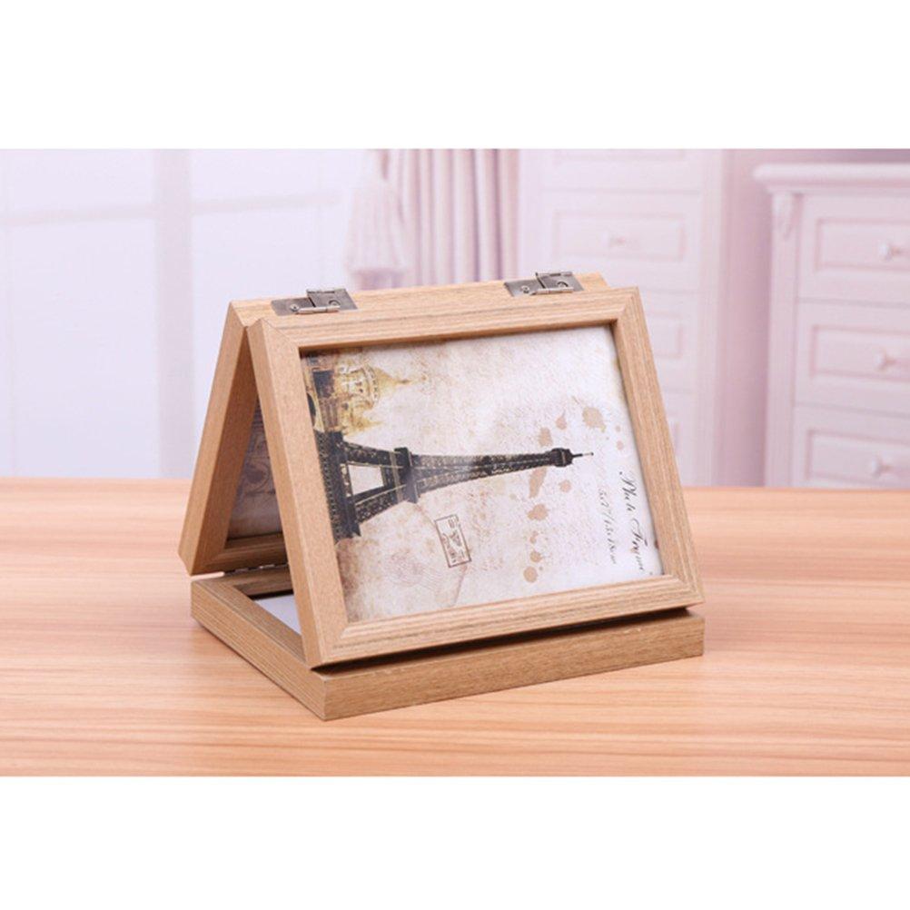 WINOMO 3-Eröffnung klappbare Homestead Distressed Holz Collage Frame ...