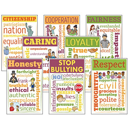 - McDonald Publishing MC-CC3110 Character Education Chatter Charts, Set of 8