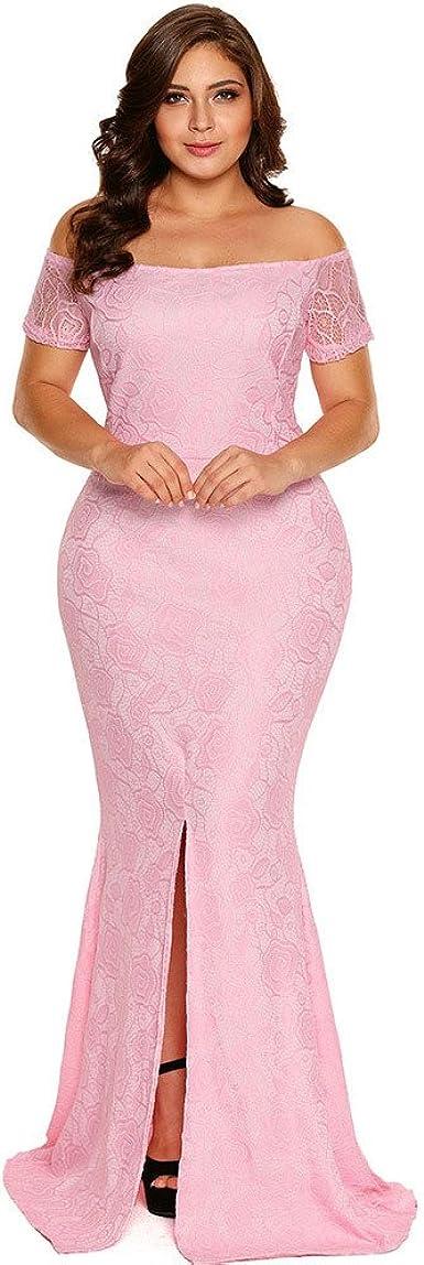 Amazon Com Vestidos Tallas Grandes Plus Ropa De Moda Para Mujer Sexys Casuales Largos De Fiesta Y Noche Elegantes Blancos Tg0040 Xxl Rosado Clothing