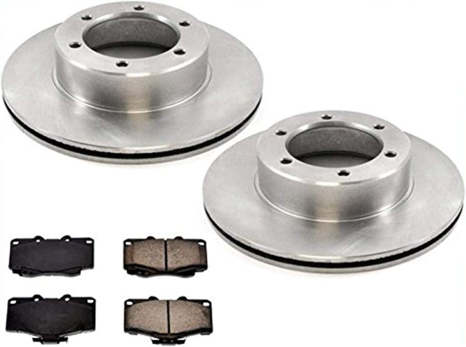 Brand New Front Rotors /& Brake Pads for Toyota Pickup 89-95 4 Wheel Drive 4x4