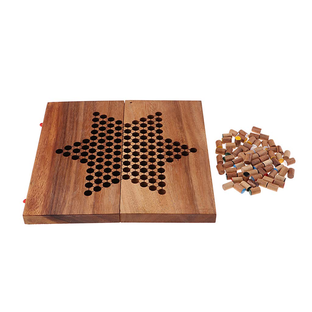 Sharprepublic Wooden Chinese Checkers Enthält 60 Holznägel