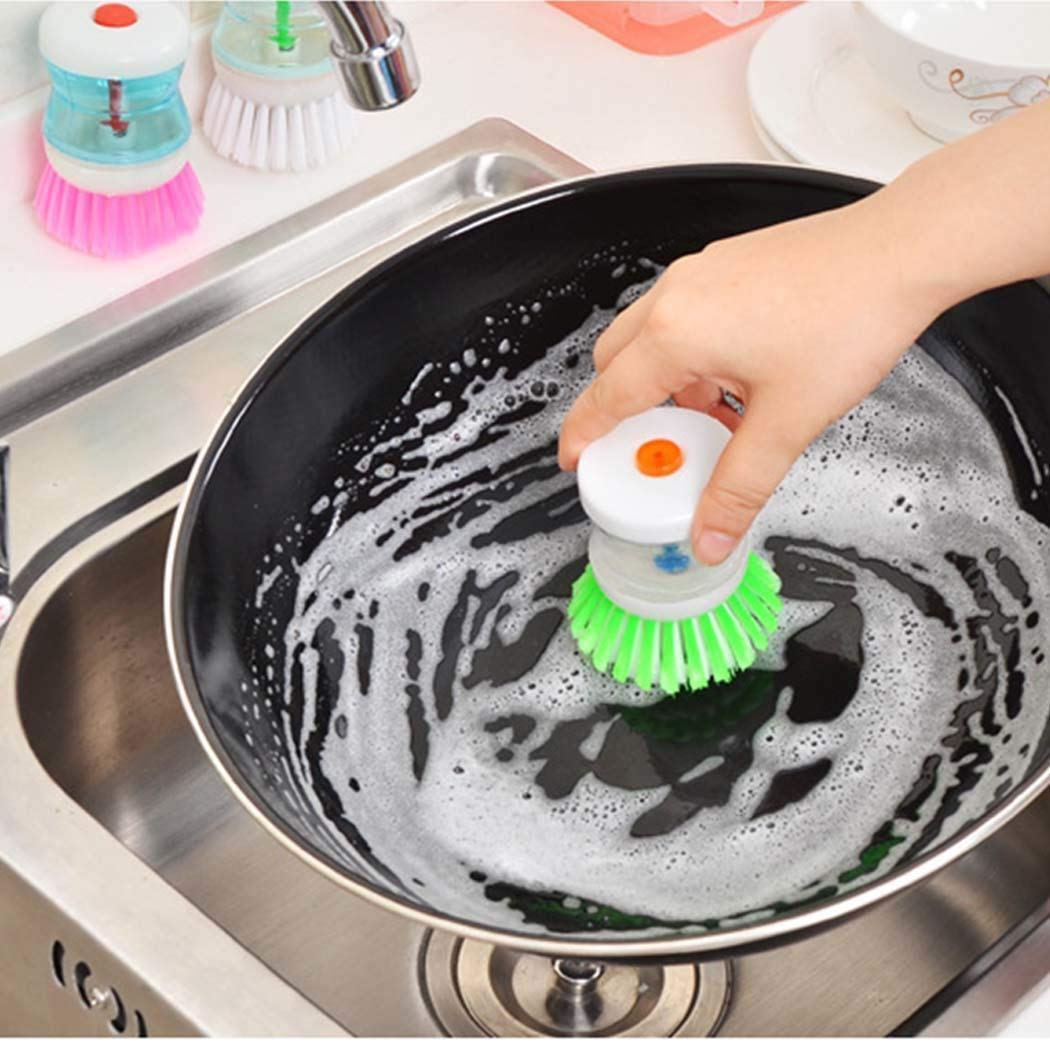 Pagacat Creative Practical Kitchen Tools Automatically Add Liquid Cleaning Brush Brushes