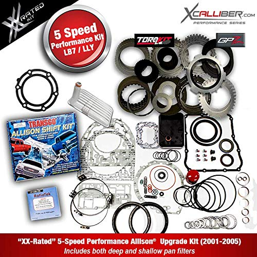 XCALLIBER (29545311-XX) - Performance Rebuild Kit w/GPZ Plates for  DURAMAX/GM, 5 Speed ALLISON 1000 Series Transmissions, LBZ/LMM