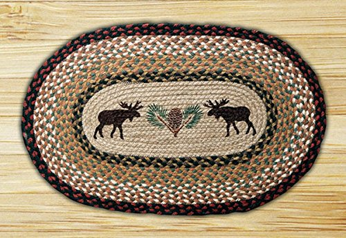(13in. x 19in. Moose & Pinecone Oval Placemat)