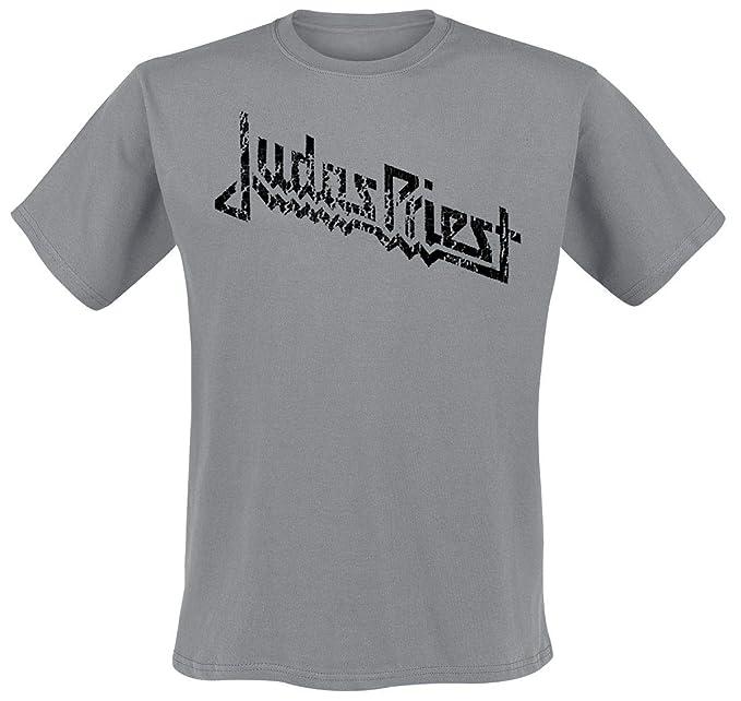 Judas Priest Vintage Logo Camiseta Gris S