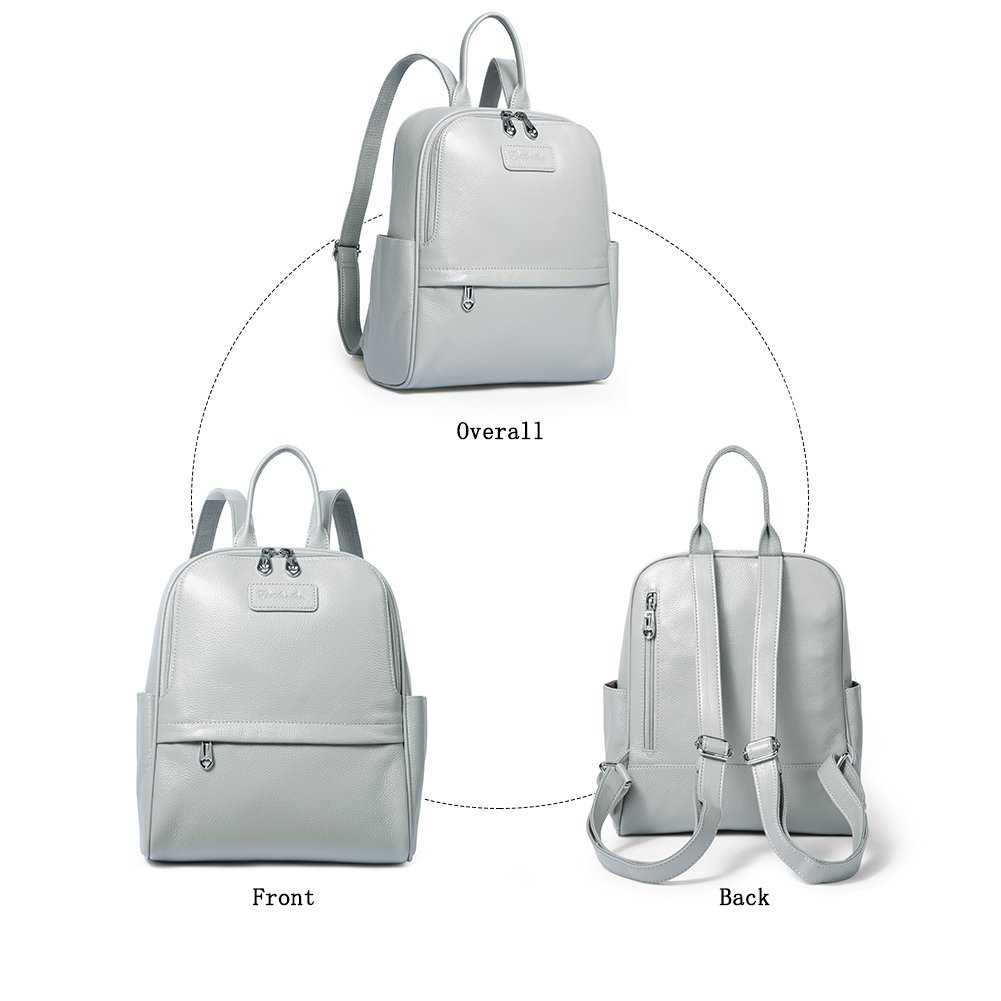 b690ff384b6 BOSTANTEN Genuine Leather Backpack Purse Fashion School Bags for ...