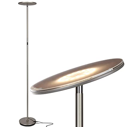 online retailer 08b8d 42c4d Brightech Sky LED Torchiere Floor Lamp – Energy Saving, Dimmable Adjustable  Lamp, Reading Lamp– Modern Tall Standing Pole Uplight Lamp Light for ...