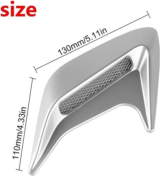 Plata Andux Zone decorativo flujo de aire de la cucharada de ventilaci/ón de aire JFK-02