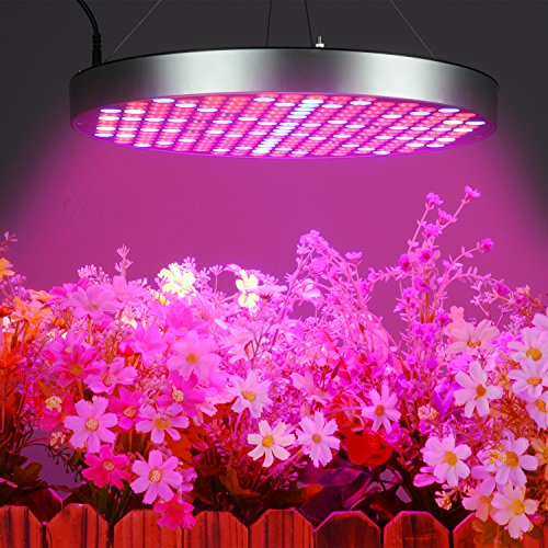 50W LED Grow Lights Bulb, Osunby UFO 250 LEDs Indoor Plants Light Full Spectrum with Red Blue UV IR White for Seedling, Vegetative and Flowering. by Osunby (Image #2)