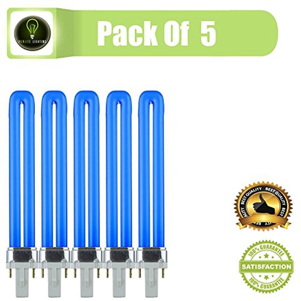 Perlita iluminación 9-watt pl 2 pines sola Base de tubo de ...