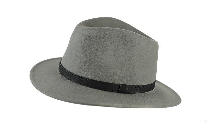 Xposed Unisex uomo donna vintage 100% feltro di lana Crushable Fedora  cappello a tesa larga 074e144ab2b6