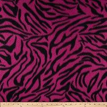 Fleece Zebra Print Light Pink/Black Fabric By The YD