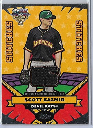 2006 Topps Update Baseball Scott Kazmir All-Star Stitches Jersey Card # AS-SK