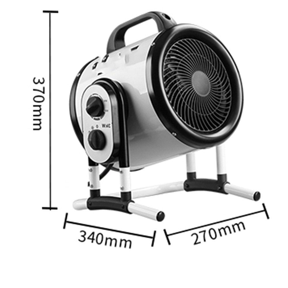 Calentador QFFL doméstico 3KW eléctrico Aire Caliente Oficina Baño Estufa de calefacción 340 * 270 * 370mm Enfriamiento y calefacción (Color : Blanco): ...