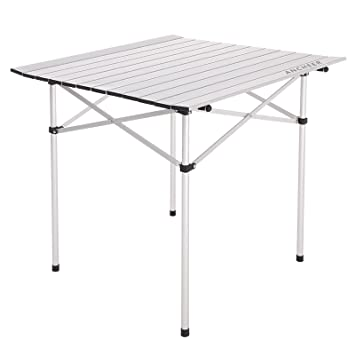 High Quality Ancheer Aluminum Folding Collapsible Camping Table, Ultralight Roll Up  Picnic Table With Compact Carrying Bag