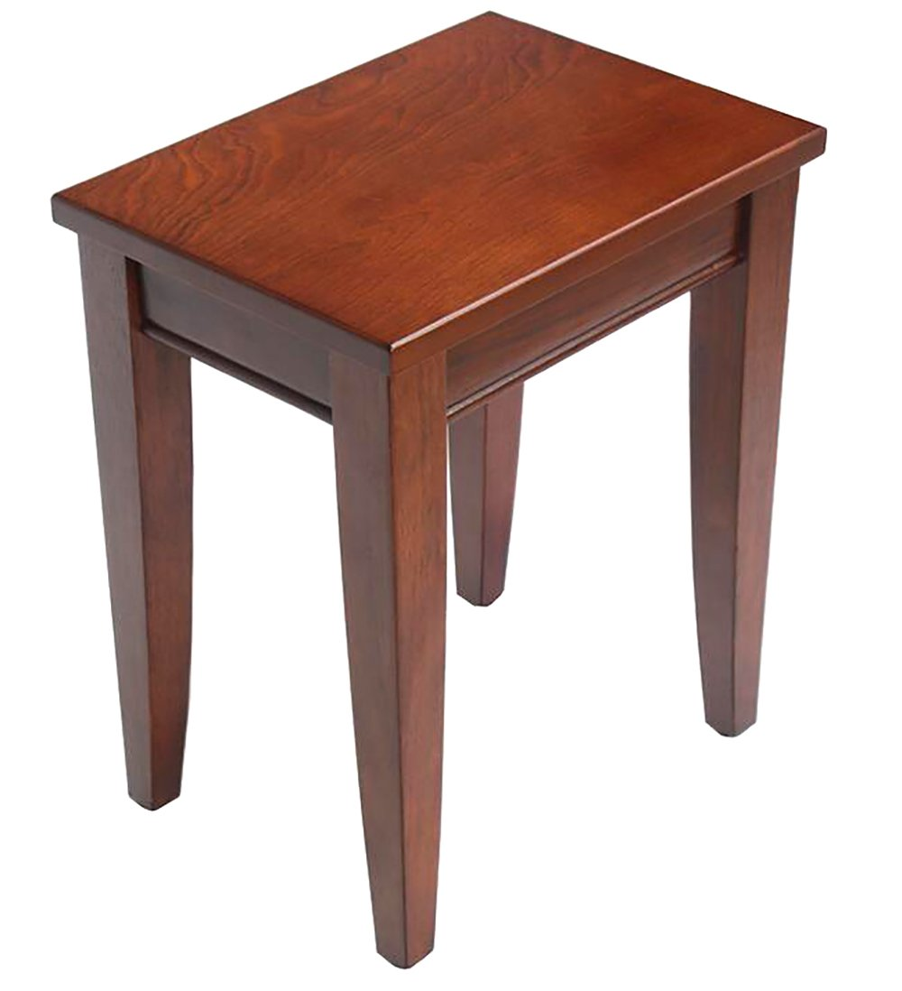 WUFENG stool Solid wood simple High stool Two colors optional 37x47x46.2cm (Color : Antique color)
