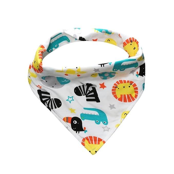 Kids Baby Cotton Waterproof Bandana Bibs Feeding Saliva Towel Dribble Triangle