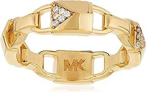 مايكل كورس خواتم فاشن طلاء ذهبي للـنساء ، حجم 52 EU - 4051432856532