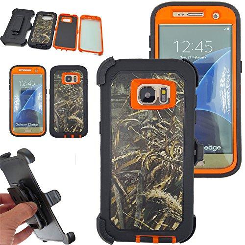 Shockproof Armor Case for Samsung Galaxy S7 Edge (Orange) - 5