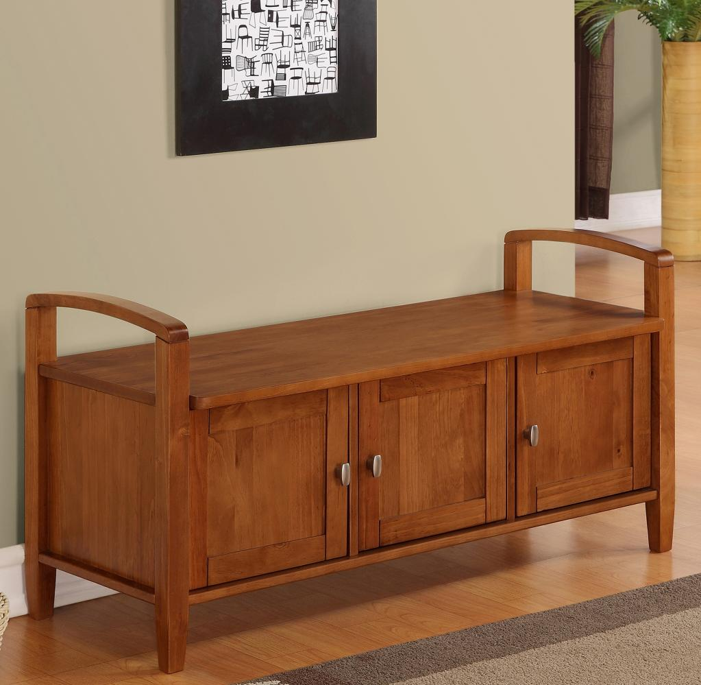Solid wood storage bench 3 door 44 storage shoes Wooden hallway furniture