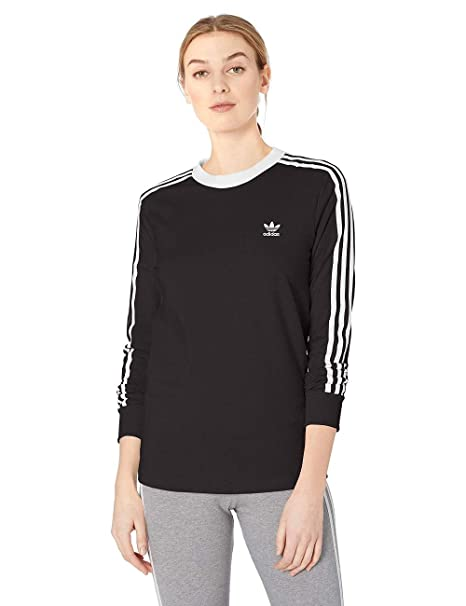 adidas Originals Women's 3 Stripes Long Sleeve Tee