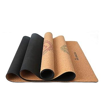 Jiuyizhe - Esterilla de Goma de Corcho para Yoga, 3 mm ...