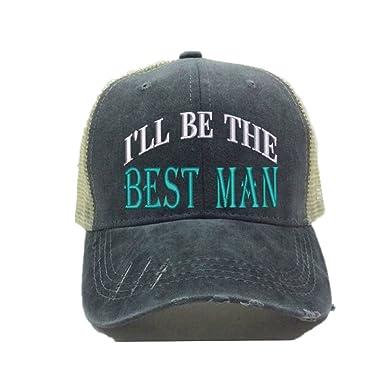 "17d03533 Custom Distressed Trucker Hat""I'll Be The Bride"" Groom Wedding  Party Baseball"
