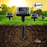 7. Aogist 4 Pack Solar Remover Spikes for Lawn Garden Yard