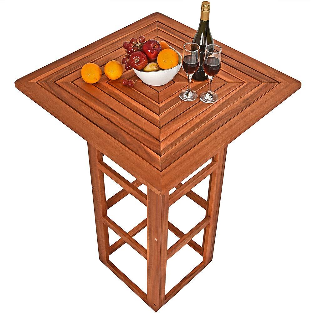 Tables à Cocktail De Jardin Jardin Deuba Table De Bar Carrée