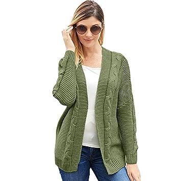 Capa del suéter de las mujeres Chaqueta de punto abierto ...