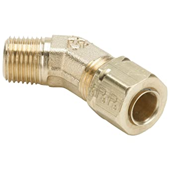 Parker 179CA-8-6 Compress-Align Compression Fitting Compression 45 Degree Elbow Forged Brass 1//2 and 3//8 Tube to Pipe