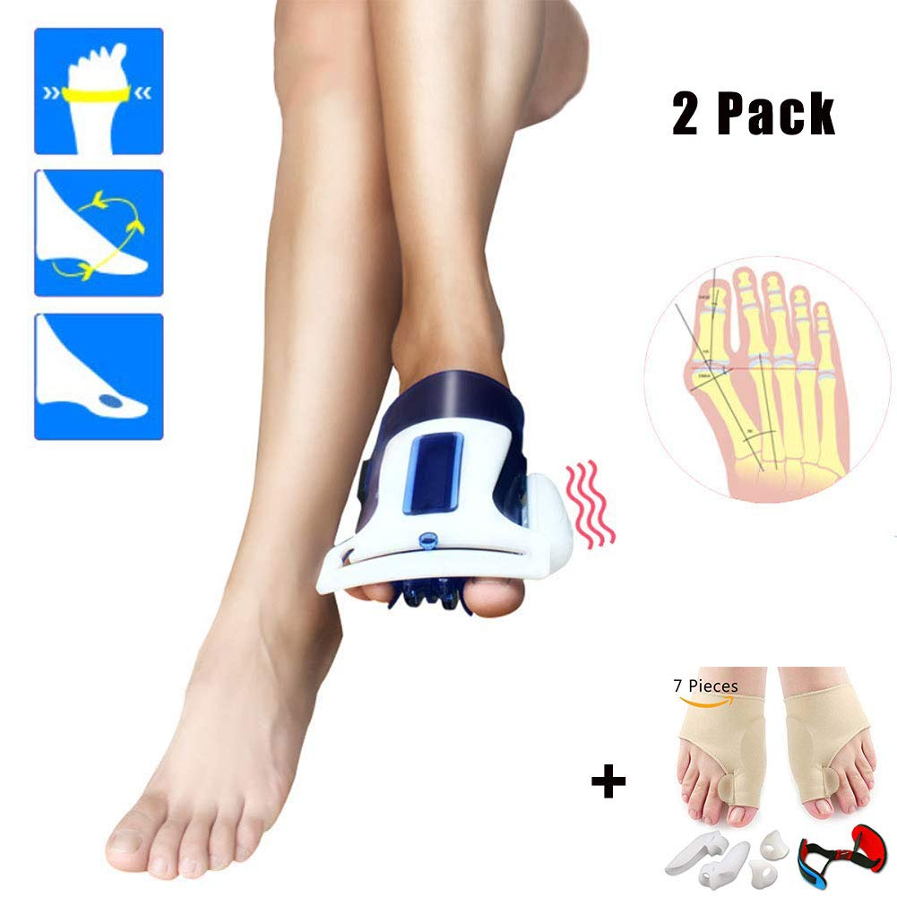 DZWJ Bunion Splints Harmonic Resonance Hallux Valgus Orthosis 2 Pack Pain Relief Bunion Corrector and Thumb Eversion Correction 7 Set,Blue by DZWJ
