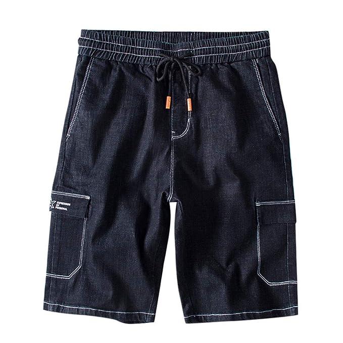 FRAUIT Pantalones Cortos de Los Hombres Pantalones Cortos ...