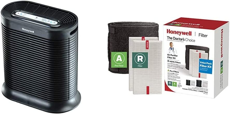 Honeywell HPA200 True HEPA Allergen Remover & HRFARVP HRF-ARVP True HEPA Filter Value Combo Pack, White