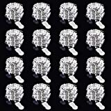 Onforu 16 Pack 10ft 3m LED String Lights, 30 LED IP67 Waterproof Copper Wire Fairy Lights, Battery Operated Firefly Starry Lights for Outdoor DIY Wedding Party Christmas Bottle Decor, Cool White